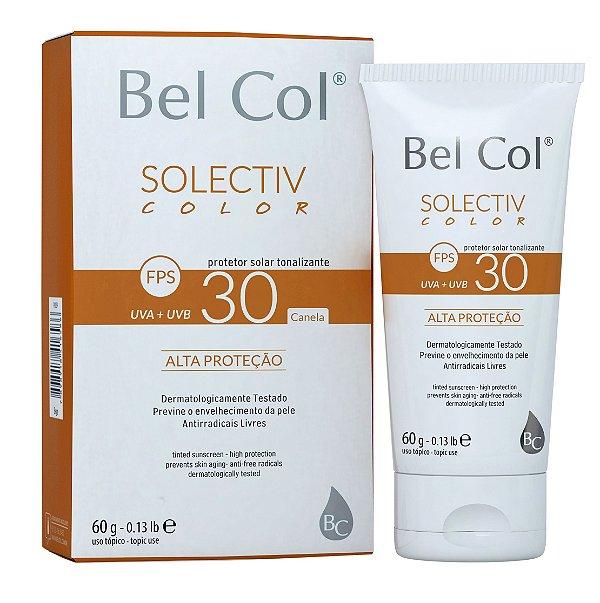 Solective Color FPS 30 Protetor Solar com Tonalizante - Canela 60 G - Bel Col
