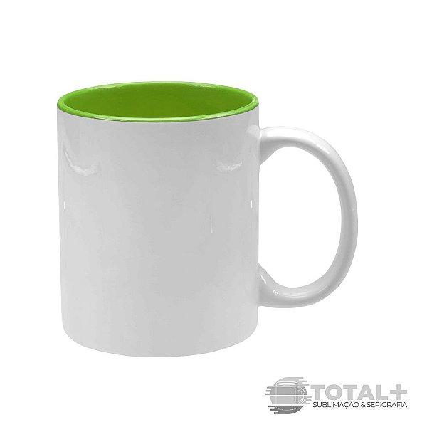 Caneca Branca com Interior Verde - 325 ml