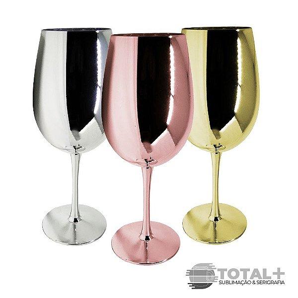 Taça de Vinho Espelhada para sublimação