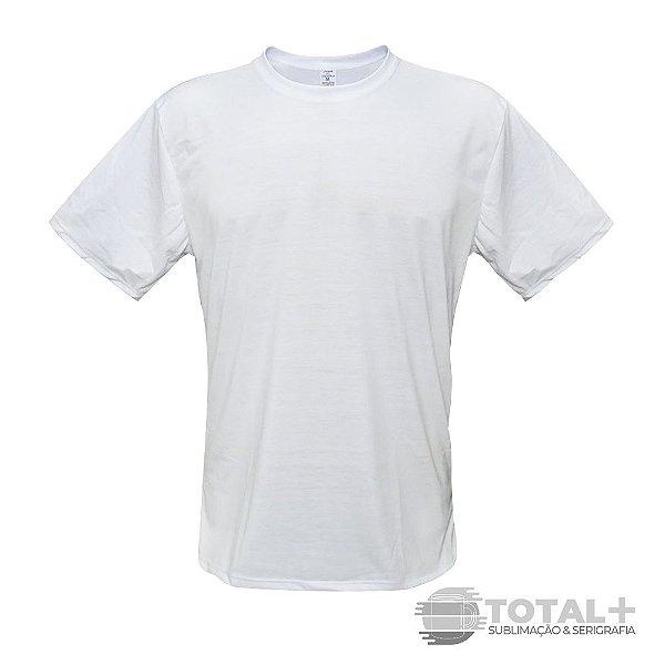 Camiseta Poliéster Branca Gola Redonda