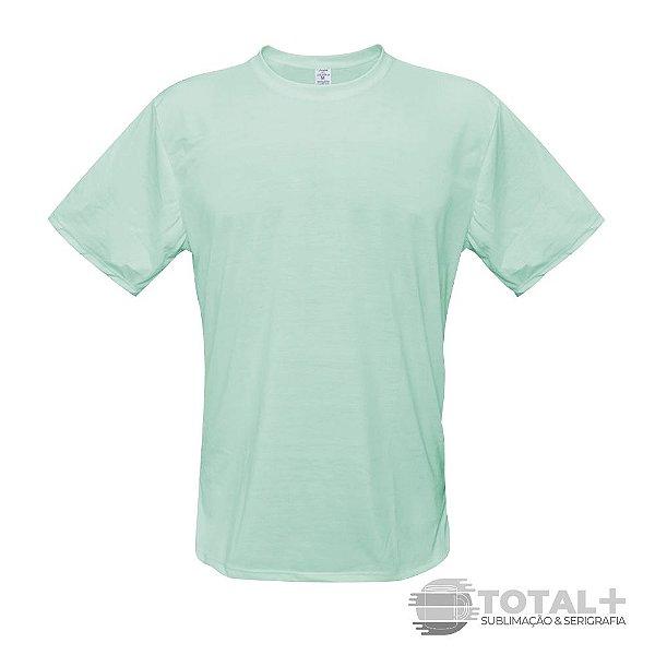 Camiseta Poliéster Verde claro Gola Redonda