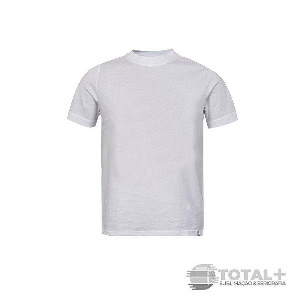 Camiseta Infantil Branca Poliéster Gola Redonda
