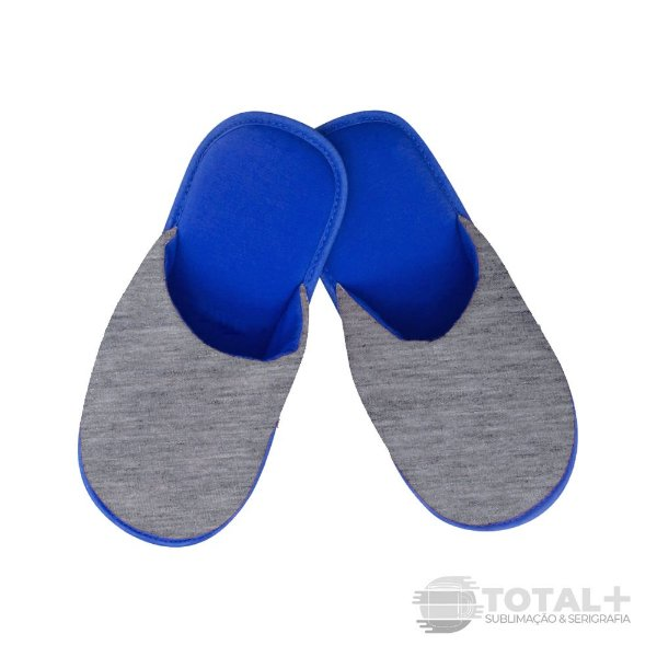 Pantufa Adulto Azul e Mescla para sublimação