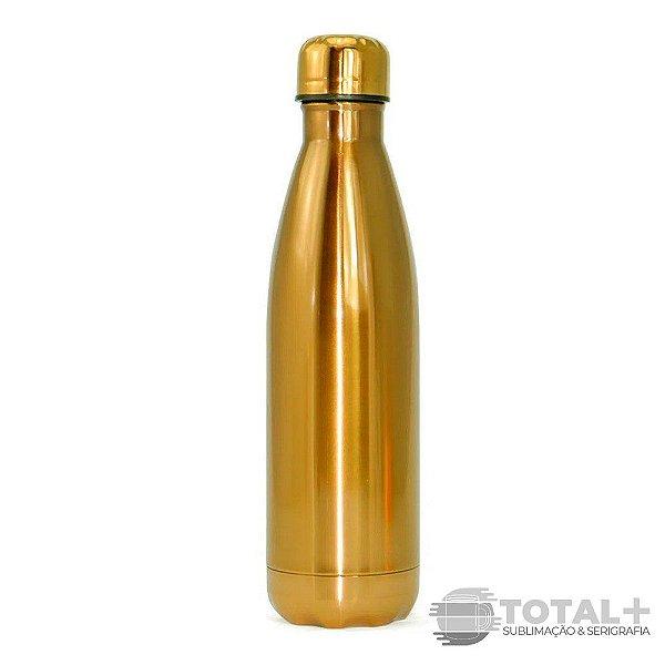 Garrafa Térmica para Sublimação inox Dourada - 500ml