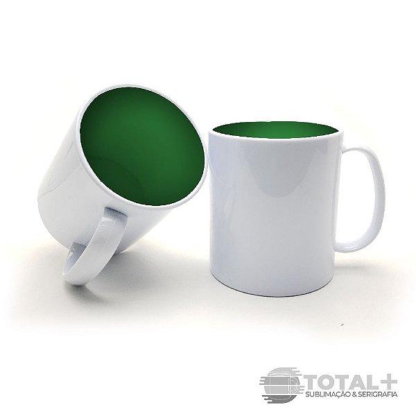Caneca De Polímero Interior Verde Metalizado Resinada para Sublimação