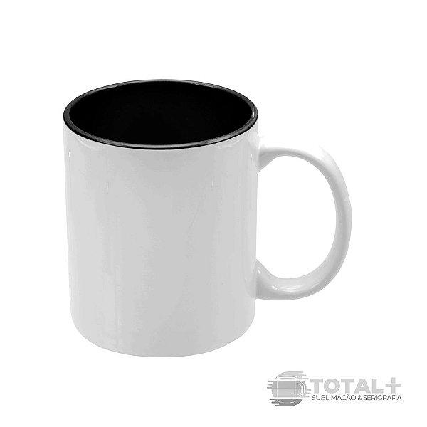 Caneca Branca com Interior Preto - 325 ml