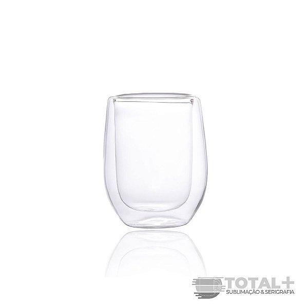 Copo de Whisky 240ml Cristal Parede Dupla