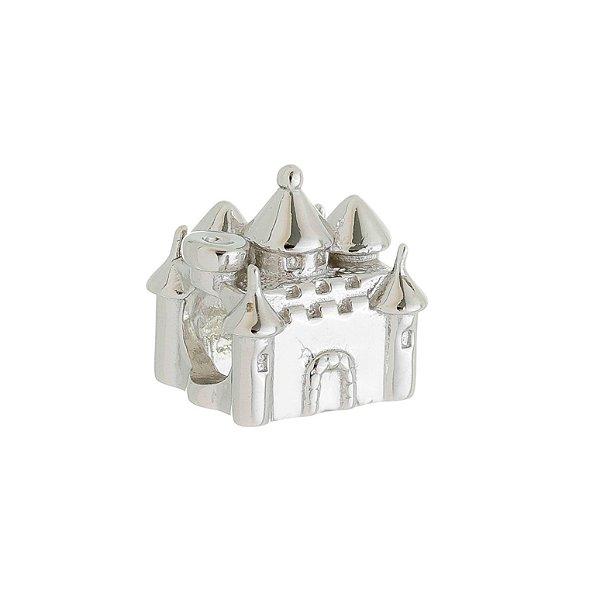 Berloque Infantil Castelo Prata Com Ródio