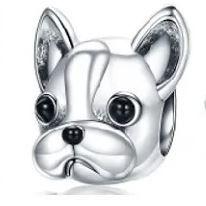 Berloque Cachorrinho Bulldog Prata