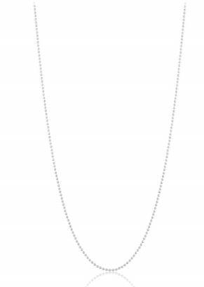 Corrente de Bolinha Em Prata 70cm/1mm