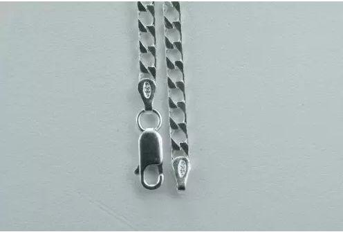 Corrente Grumet Quadrada Em Prata 60cm/3mm