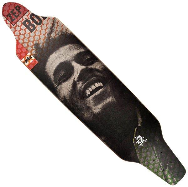 Shape Wood Light Longboard Assimétrico Bob Marley Profile