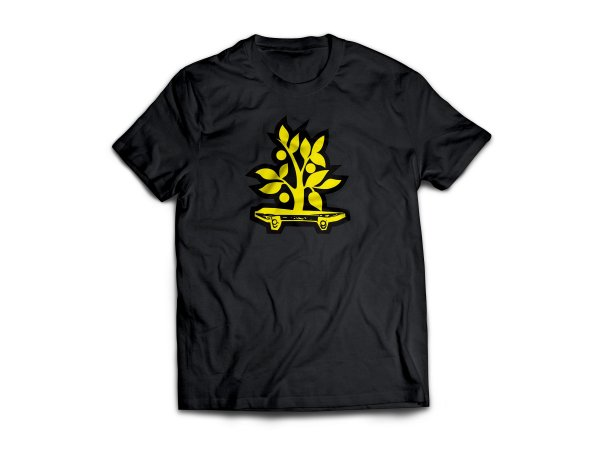 Camiseta Wood Light Logo Preta