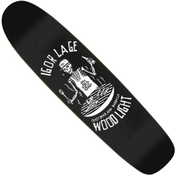Shape Longboard Wood Light Pro Model Igor Lage Crazy Beer and Barbecue Black