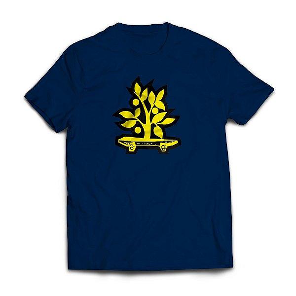 Camiseta Wood Light Logo Azul Marinho