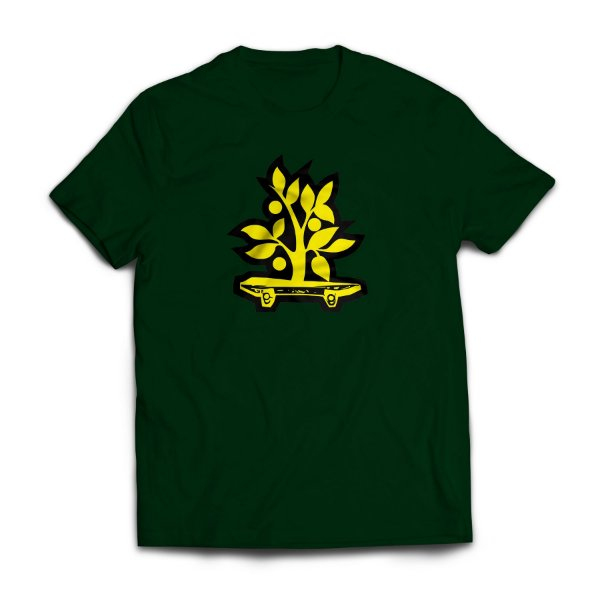 Camiseta Wood Light Logo Verde Musgo