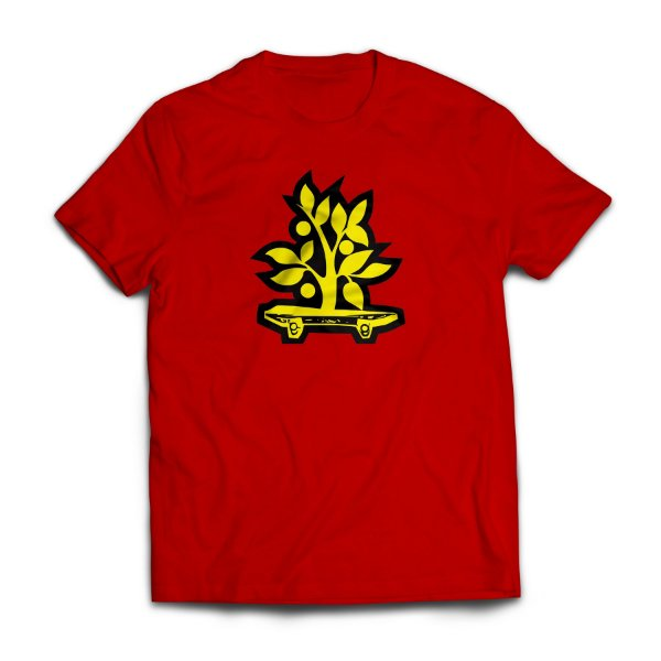 Camiseta Wood Light Logo Vermelho