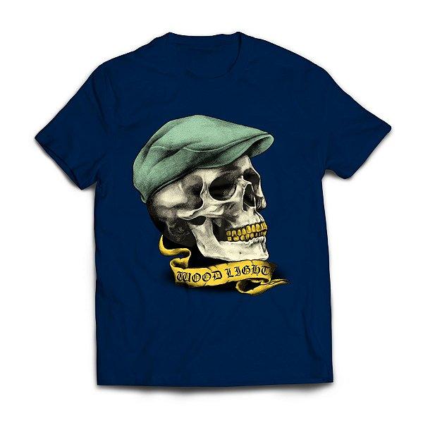 Camiseta Wood Light Skull Hat Azul Marinho