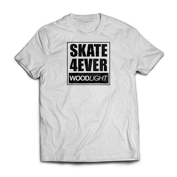 Camiseta Wood Light Skate 4ever Branca