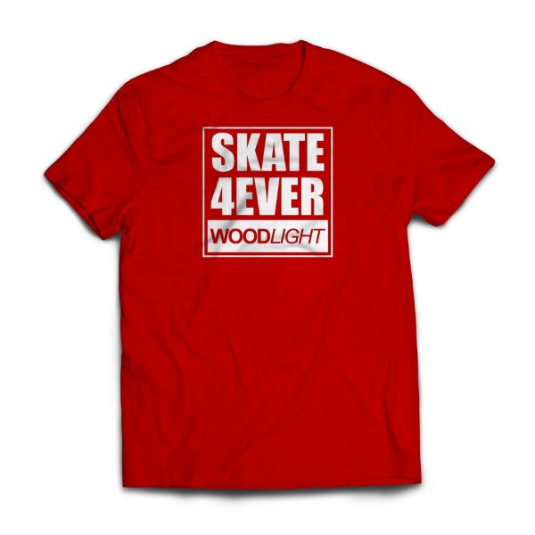 Camiseta Wood Light Skate 4ever Vermelha