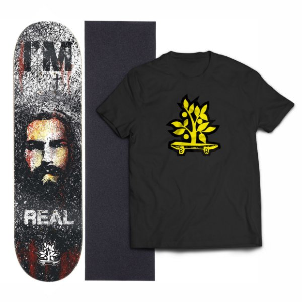 Kit Shape De Skate Wood Light Eight + Lixa + Camiseta - Im Real