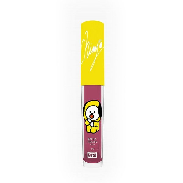 BT21 - BATOM LIQUIDO MATTE CHIMMY COR ROSE STAR