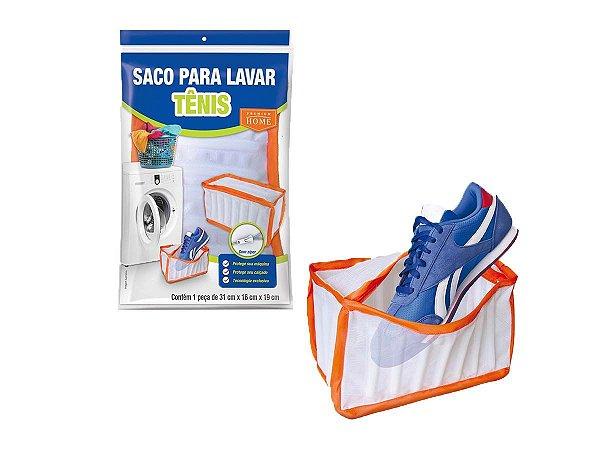 Saco Para Lavar Tênis Na Máquina Protetor Com Zíper