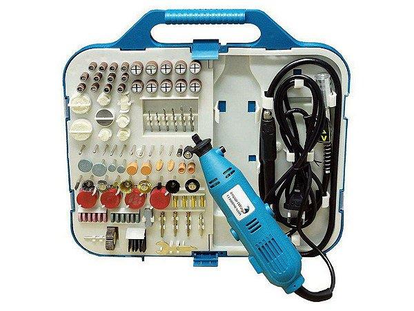 Kit Micro Retífica 160 Pçs Acessórios Ferramentas 110V 250W