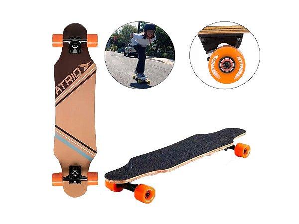 Skate Longboard Urban Sand Rodas em Polímero Shape 9