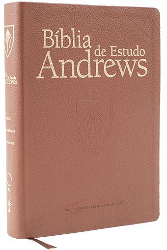 Bíblia de Estudo Andrews (Luxo Marrom) - Capa de Couro