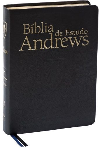Bíblia de Estudo Andrews (Luxo Preta) - Capa de Couro