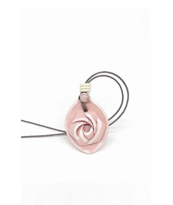 Colar Aromático Rosa Damascena Cerâmica