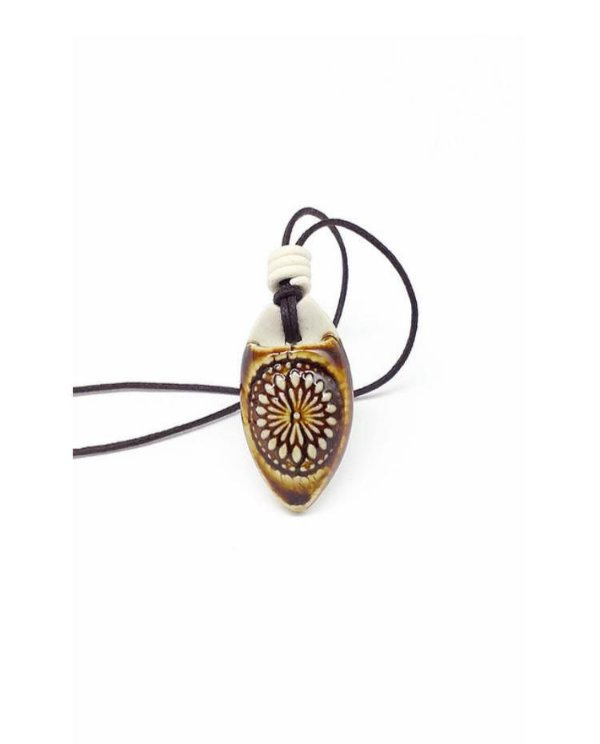 Colar Aromático Mandala Âmbar Cerâmica
