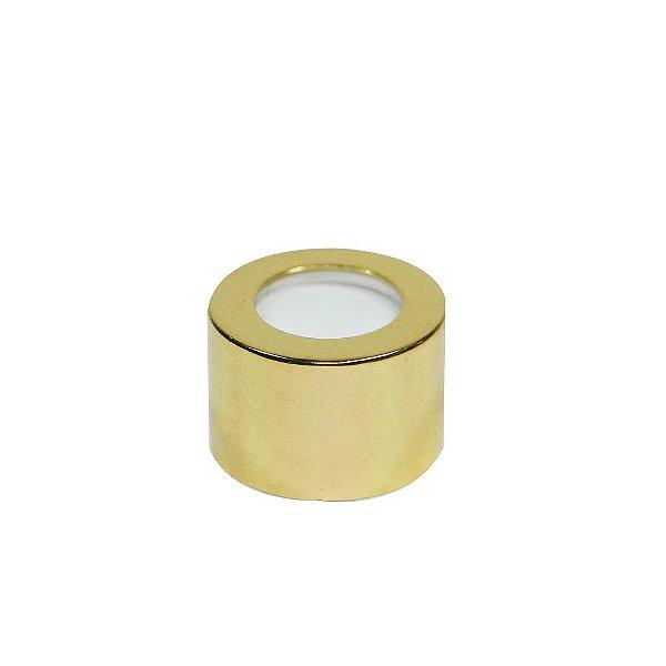 Tampa Luxo Dourado com Furo - Rosca 28/410