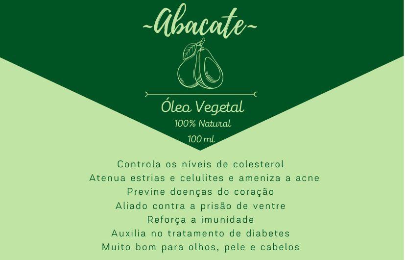 Óleo Vegetal de Abacate - 100mL