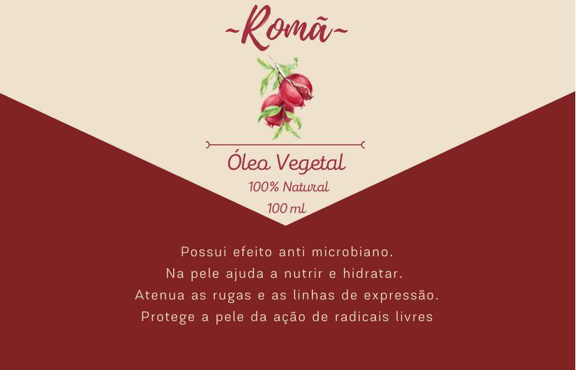 Óleo Vegetal de Romã - 100mL