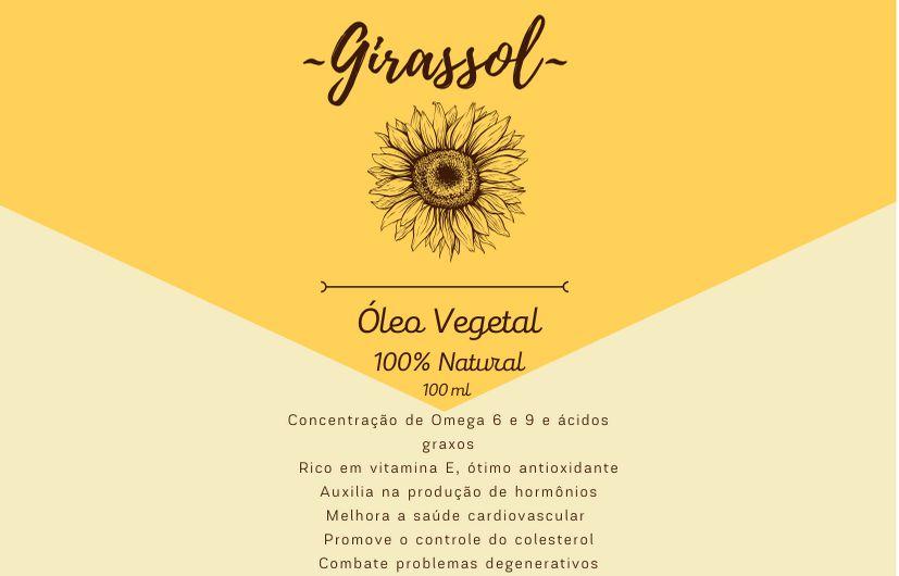Óleo Vegetal de Girassol - 100mL