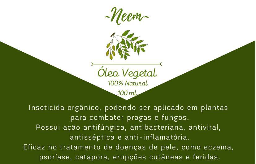 Óleo Vegetal de Neem - 100mL