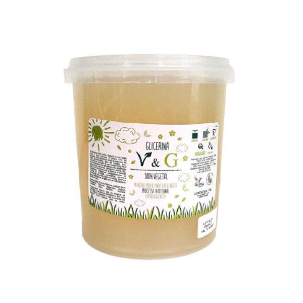 Base para Glicerina para Sabonete V&G 100% Vegetal  1kg  Transparente HIPOALERGÊNICA