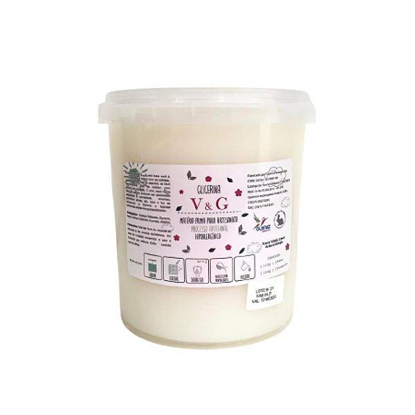 Base para Glicerina para Sabonete V&G Branca 1kg  HIPOALERGÊNICA