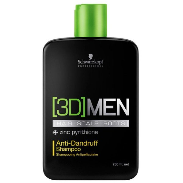 Schwarzkopf 3D Men AntiDandruff Shampoo Anti- Caspa 250ml