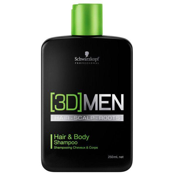 Schwarzkopf 3D Men Hair & Body - Shampoo Cabelo e Corpo 250ml