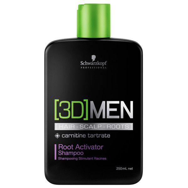 Schwarzkopf 3D Men Root Activator Shampoo Ativador de Raíz 250ml