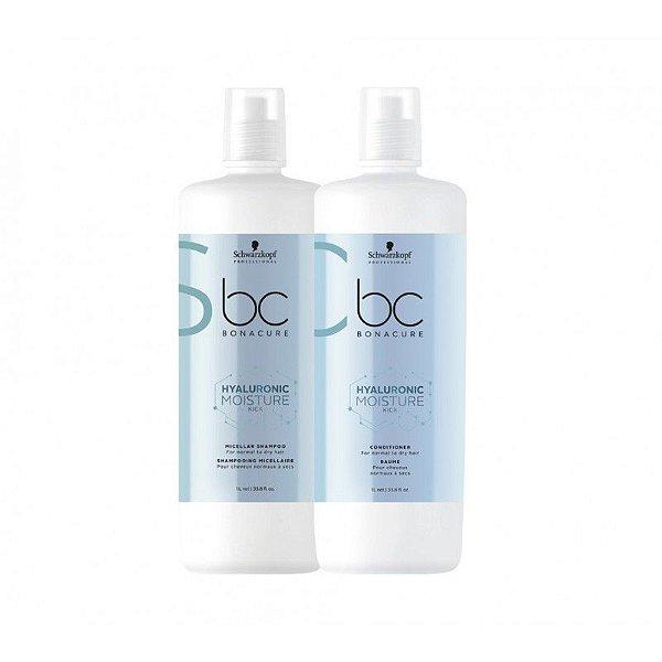 Schwarzkopf Bonacure Hyaluronic Moisture Kick Kit Shampoo1000ml+Condicionador1000ml