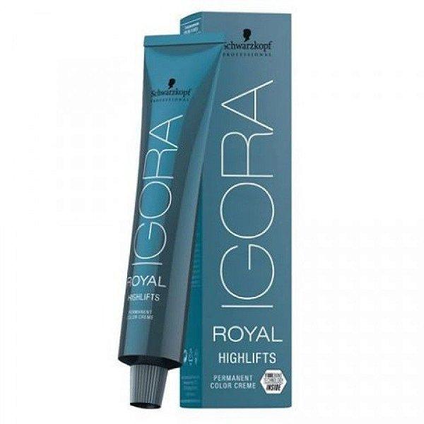 Schwarzkopf Igora Royal Highlifts Coloração Permanente 10-1 Louro Ultra Claro Cinza 60g