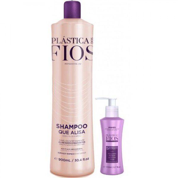 Cadiveu Plástica dos Fios Shampoo Que Alisa 900ml (Ganhe o Prime)