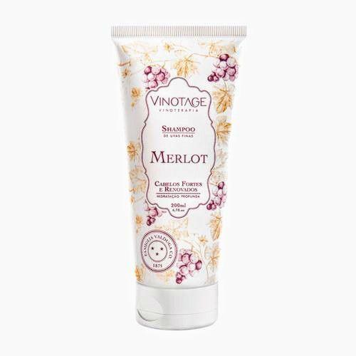 Shampoo Merlot Varietais Hidratação Profunda 200 ml - VINOTAGE