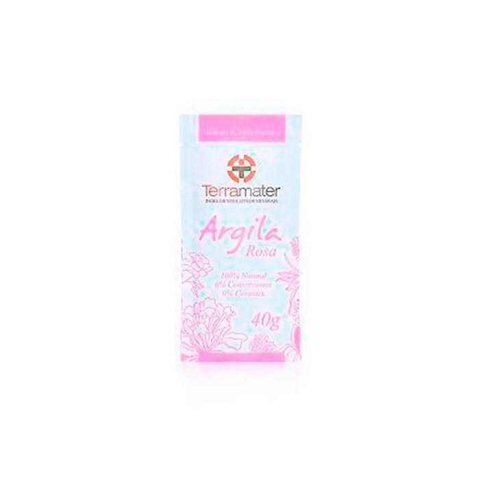 Máscara de Argila Orgânica Rosa para a Elasticidade 40g - TERRAMAR