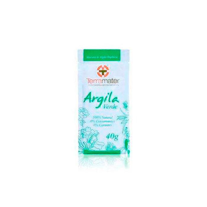 Máscara de Argila Orgânica Verde Antioleosidade  40g - TERRAMATER