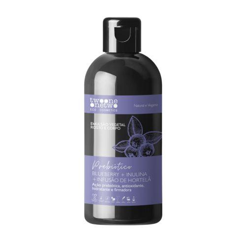 Emulsão Vegetal Blueberry+inulina+hortelã - 250 ml Vegano e Natural - TWOONE ONETWO